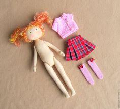 Купить Кукла со сменной одеждой. Тряпичная Кукла. Текстильная Кукла. (3) - интерьерная кукла