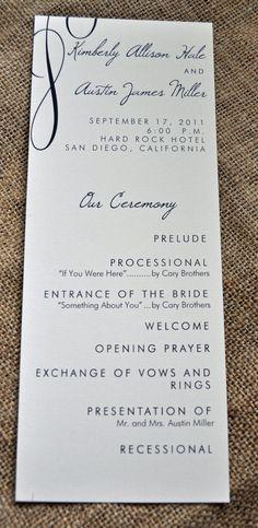 100 Vintage Tea Length Wedding Programs by WiregrassWeddings, $80.00
