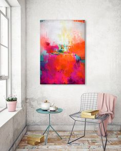 Original gran pintura abstracta arte abstracto uno por ARTbyKirsten