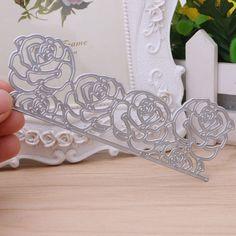 Roses Metal Cutting Dies Stencil Scrapbook Paper Card Embossing DIY Craft Gift #Unbranded