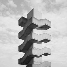 concrete stairs to nowhere Stairs Architecture, Futuristic Architecture, Interior Architecture, Installation Architecture, Stairway To Heaven, Brutalist, Stairways, Zentangle, Buildings