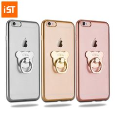IST Original Silicone Holder Cover Case For Iphone 5 5s 5se 6 6s 7 7s Plus Slim Phone Ring Stand Back Cases