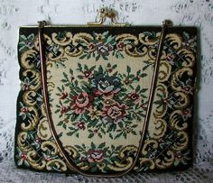 Vintage Floral Tapestry Purse by TheVintageHandbag on Etsy, $28.00