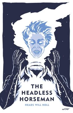 The Headless Horseman from Tim Burton's Sleepy Hollow, as played by Christopher Walken, illustration by Matt Talbot