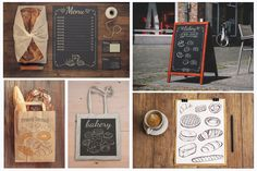 Sketch of bread and pastries. by Natali_art on Creative Market