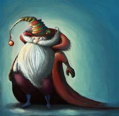 Cute santa claus christmas artworks illustrations