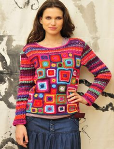 Crochet & knit sweater ...I call Babette!