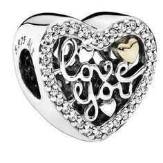 Charm Pandora Plata Amor Grabado 792037CZ. Joyas Pandora
