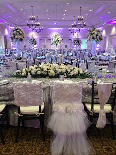 Love the bride and groom chair Pink Wedding Receptions, Purple Wedding Centerpieces, Wedding Reception Backdrop, Luxury Wedding Venues, Wedding Catering, Destination Wedding Decor, Unique Wedding Programs, Quince Decorations, Wedding Chair Decorations
