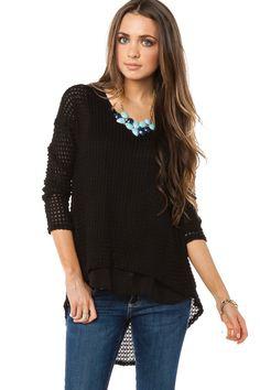 ShopSosie Style : Olena Sweater in Black