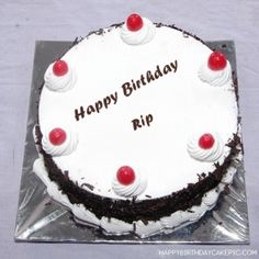 Write Name On Black Forest Birthday Cake