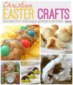 Resurrection Rolls, Easter Bread and more Easter Recipes and Easter Crafts on Frugal Coupon Living. Also Resurrection Eggs and Resurrection Gardens.