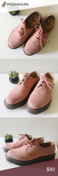 Dr. Marten Pink Oxfords Excellent condition. Low top oxford. Dr. Martens Shoes Combat & Moto Boots