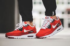 aa42d2d1fc42e Deals Nike Air Max 90 Ultra Essential Red Black Mens Trainers at nike  online store