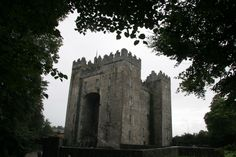 This is a castle in Ireland. As opposed to the beautiful continental castles, this one is rather austere and rough. Ireland wasn't invaded by the Normans until the 11th century, and it was only then they learned to build stone castles.