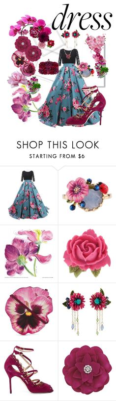 """""""#dreamydresses"""" by glamourgrammy on Polyvore featuring Polaroid, Les Néréides, Tarina Tarantino, Christopher Kane, Marchesa, Karina and Alexander McQueen"""
