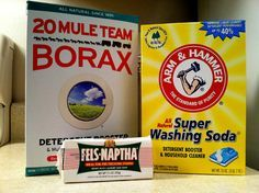 Homemade laundry detergent recipes. This site has done several homemade recipes, then washes strips of cloth with mustard using each recipe - including a commercial brand - to show the efficacy of all of the detergents. Very impressive site.