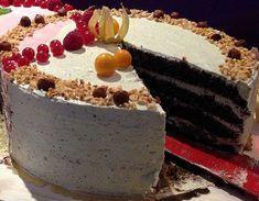 Vegane Nuss-Nougat-Torte mit leckerer Haselnuss-Buttercreme