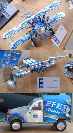 Arte con latas de cerveza. Aluminum Can Crafts, Diy Resin Crafts, Metal Crafts, Diy Craft Projects, Bottle Cap Art, Bottle Cap Crafts, Coke Can Crafts, Pop Can Art, Straw Crafts