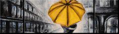 NEW 3PCS CANVAS PRINT WALL ART ABSTRSCT UMBRELLA 150x70cm Ready to hang