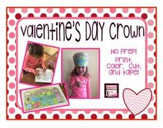 FREEBIE: This is the perfect Valentine's Day craft for your student's. Simply print, color, cut, and tape.   This can be printed on cardstock for extra durability, but also works well on regular paper. If desired, construction paper or sentence strips can be used for the band.   My kindergartener loved this activity, but my 4th graders did too!   Enjoy!