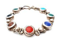 Vintage Sterling Silver Bracelet Inlay by TheJewelryLadysStore
