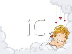 Illustration of a Sleeping Baby Cupid
