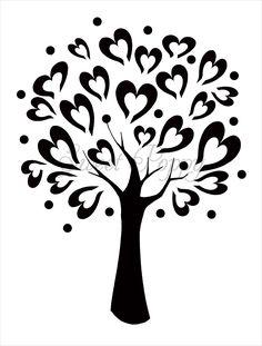 Tree Stencil Patterns - Www. Wood Burning Stencils, Wood Burning Patterns, Stencil Patterns, Stencil Designs, Kirigami, Tree Stencil, Heart Stencil, Damask Stencil, Stencil Art