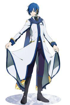 Kaito it isnt verry long it looke cutee Vocaloid Kaito, Kaito Shion, Kagamine Rin And Len, Manga Anime, Fanarts Anime, Anime Art, Hatsune Miku Project Diva, Vocaloid Characters, Cute Anime Character