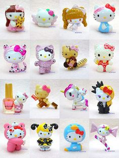 Hello Kitty Mini Mascots - Collaboration