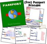 free passport printable