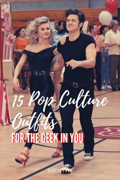 15 Pop Culture Outfits For The Geek In You Halloween Dress, Halloween Party, Halloween Costumes, Sandy And Danny, British Broadcasting Corporation, Gothic Men, Napoleon Dynamite, Magic School Bus, Kim Possible