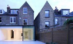Rear Glass Extension , London , Clapham, Minimalist Frames, Slimline sliding doors, Panoramah , Porcelain Floor, LBMVarchitects