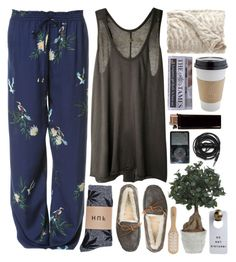 """""""Ritual"""" by vv0lf ❤ liked on Polyvore featuring Zara, Enza Costa, UGG Australia, HUF, Lux-Art Silks, Philip Kingsley and Urbanears"""