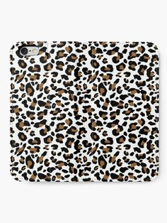 """""""Leopard spots, three color pattern"""" iPhone Wallet by cool-shirts 