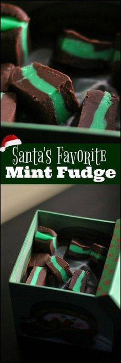 Santa's Favorite Mint Fudge uses one of our FAVORITE ingredients: Eaglebrand Sweetened Condensed Milk. OMG SO GOOD! The hardest part about this is waiting on it to chill long enough to slice it...