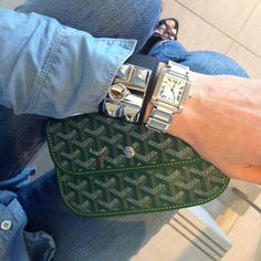 French Voguettes / jean shirt cartier watch