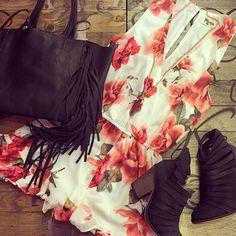 Feelin' Fringey #bohochic #floral_perfection #ootd