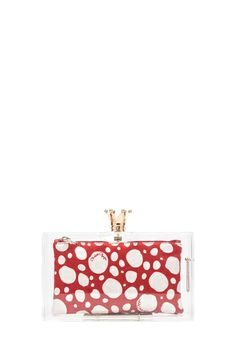 Charlotte Olympia|Pandora Royal Clutch in Clear