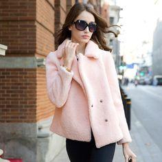 2014 new winter high Merino Sheepskin coat female short paragraph USD$399.75