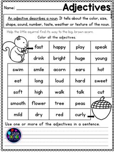 116 Best Adjectives Y1 images | Adjectives activities ...