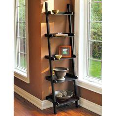 ladder bookshelves | Leaning Ladder Bookshelf Plans For Home Office | Feel The Home