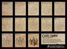 Fantasy Map Tutorial - Castle Symbol by Djekspek on deviantART