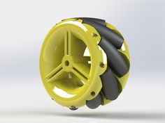 These are Mecanum wheels designed for small factor robotic systems.It's a low-cost design, the only non-printed parts required is some dressmake 3d Printer Designs, 3d Printer Projects, Arduino Projects, Hobbies For Adults, Hobbies To Try, Robot Wheels, Mecanum Wheel, Mobile Robot, 3d Printing Diy