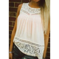 White Lacey Tank This gorgeous, classy white style ✨✨sexy, springy, perfect summer tank!! ❤️❤️ Tops Tank Tops