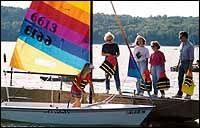 Colorful sail