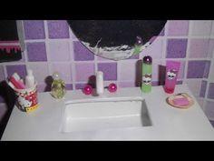 Como fazer pó de arroz, esmalte e batom para boneca Monster High, Barbie e etc - YouTube