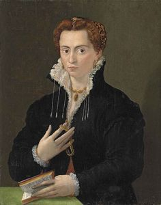 Florentine School Portrait of a Lady in Black with a Book.jpg