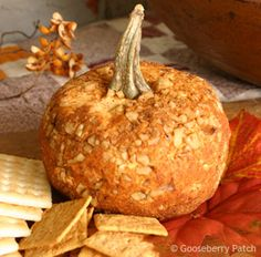 Great Pumpkin Cheese Ball from  Coming Home with Gooseberry Patch cookbook