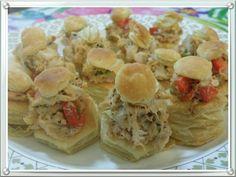 Mini Pastry Crab Salad Appetizers